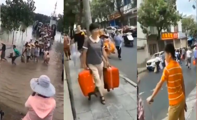 安徽五市江邊人員撤離 長江上中下游齊降暴雨