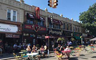 貝賽貝爾大道部分路段  週末用作戶外用餐區