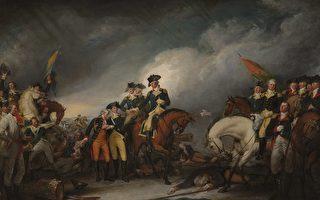 圖為美國畫家約翰·特倫布爾(John Trumbull)的作品《1776年12月26日在特倫頓俘獲黑森軍》