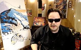 盲人畫家慶美國殘障人法案30周年 網絡派對