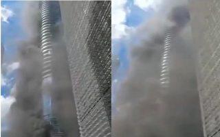 【視頻】深圳一在建工地起火 濃煙竄十數層樓
