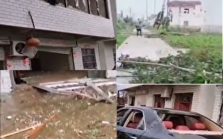 【視頻】江蘇響水8級大風 百餘戶房屋受損