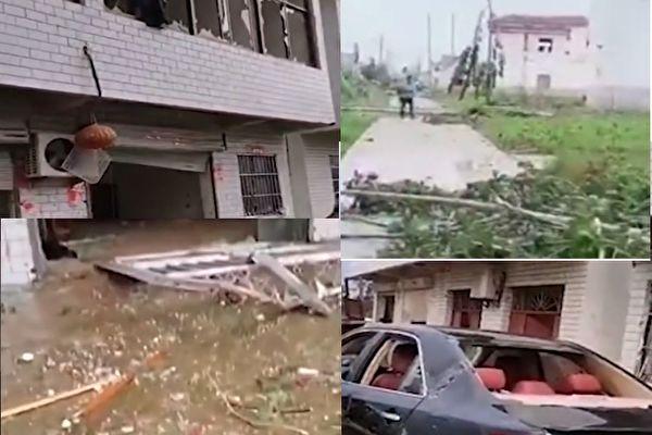 【视频】江苏响水8级大风 百余户房屋受损