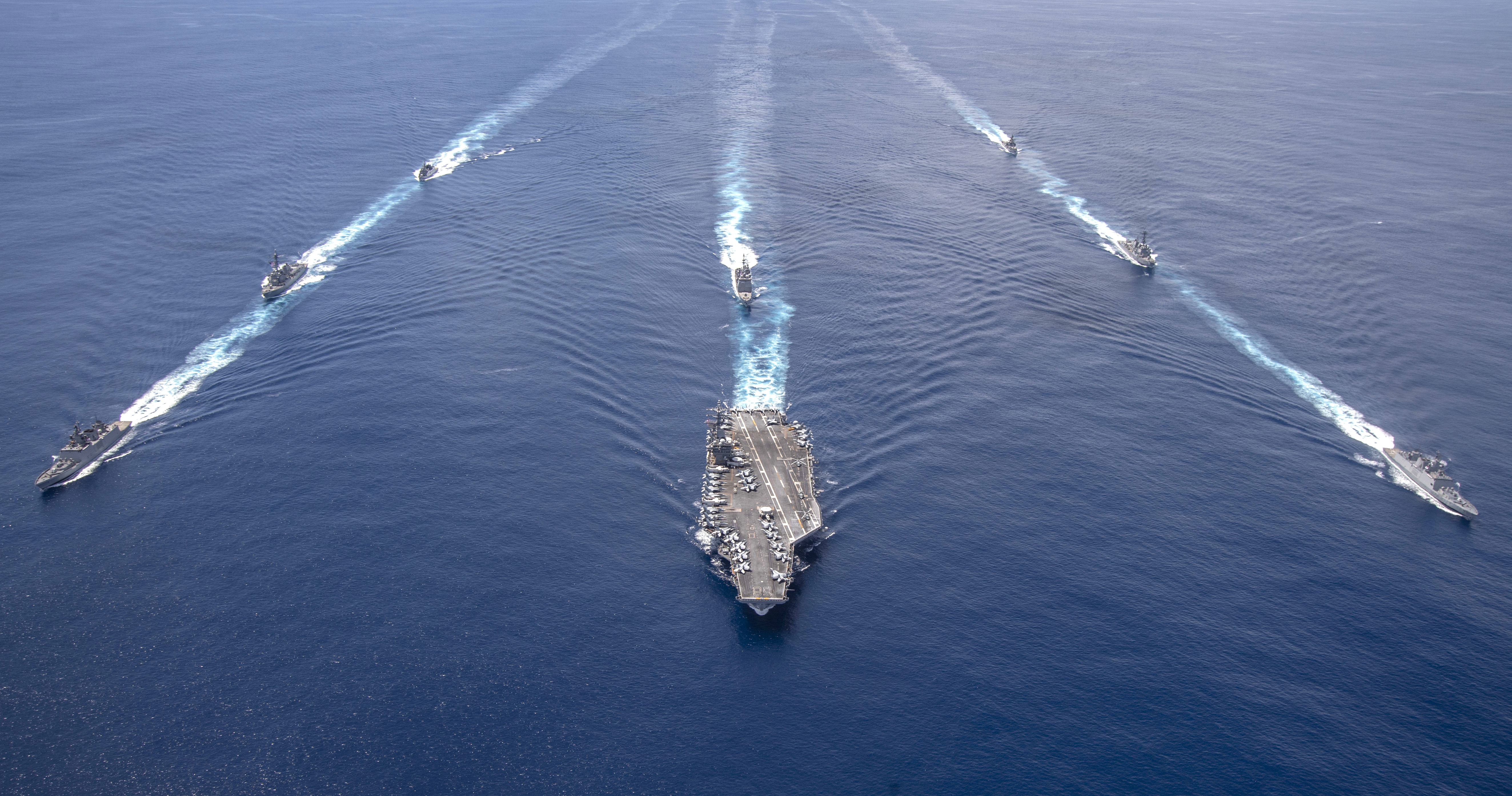 美航母和印度聯合軍演 向中共釋強烈信號
