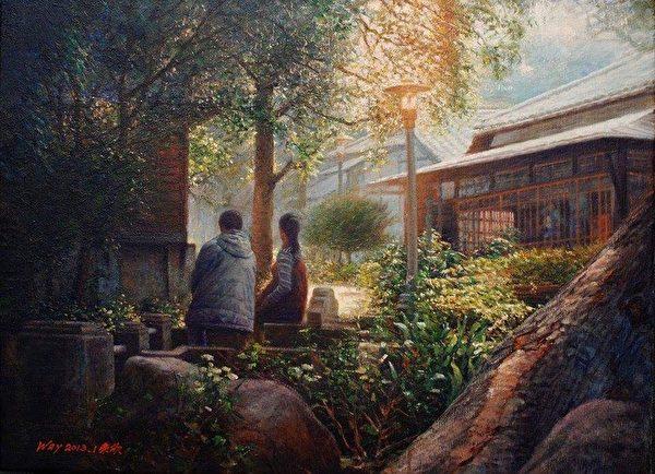 从看板到写实油画家 魏荣欣投入3D地景艺术