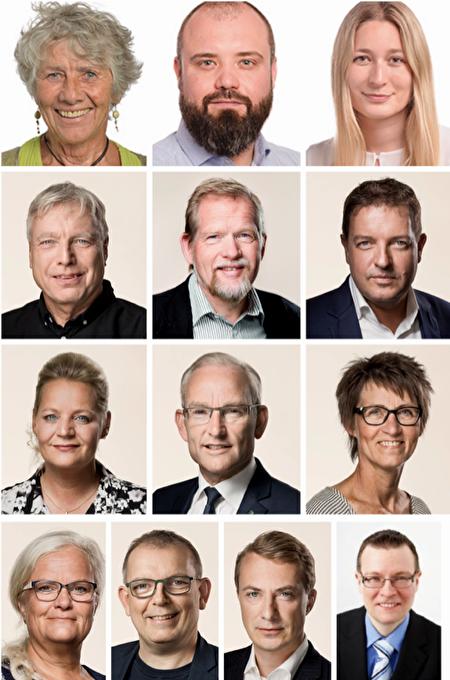 聯署《聯合聲明》的13位丹麥政要(從左至右,從上至下):瑪格麗特·奧肯(Margrete Auken,MEP)、尼古拉·維魯姆森(Nikolaj VILLUMSEN,MEP)、基拉·瑪麗·彼得-漢森(Kira Marie PETER-HANSEN,MEP)、烏菲·埃爾貝克(Uffe_Elbaek,前文化大臣,MP)、克里斯蒂安·朱爾(Christian Juhl,MP)、詹斯·羅德(Jens Rohde,MP)、卡琳娜·阿德斯伯(Karina Adsboel,MP)、佩·拉森(Per Larsen,MP)、蘇珊·齊默(Susanne Zimmer,MP)、利瑟洛特·布利克斯(Liselott Blixt,MP)、漢斯·克里斯蒂安·斯基比(Hans Kristian Skibby,MP)、莫滕·梅塞施密特(Morten Messerschmidt,MP)、肯尼斯·克里斯滕森·泊斯(Kenneth Kristensen Berth,前MP)(註:MEP指歐州議會議員,MP指國會議員)(明慧網)