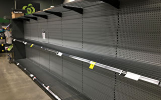 超市中的厕纸货架