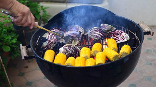 紫生菜, 碳烤, grilled food