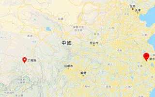 今天(7月28日)西藏昌都市丁青縣、江蘇南京市溧水區均發生地震。(谷歌地圖)