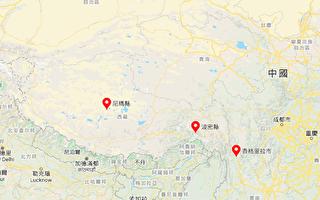 7月23日凌晨4時7分起,到晚間6時50分,中國大陸連發7次地震。6次發生在西藏,1次發生在雲南。(谷歌地圖)