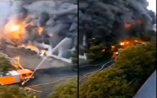 【现场视频】苏州企业仓库着火 连烧近7小时