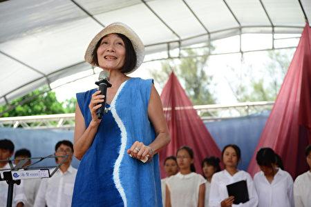 海声华德福教育负责人张宜玲于海声文化祭开幕致词表示,园区里竹构构成的M型,M就是Mother(母亲),代表文化祭的关怀主题--大地之母。