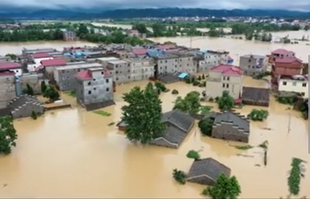 為保下游大城市 江西安徽被淹 一片汪洋