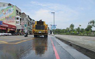 嘉市環保局啟動洗街兼灑水降溫機制