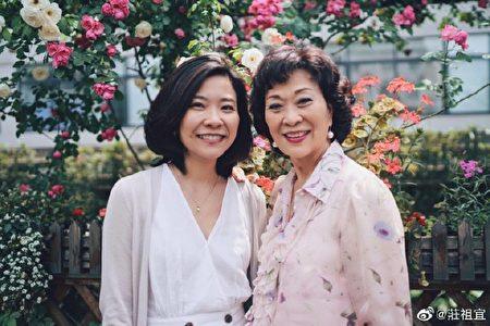 莊祖宜和媽媽范宇文。(莊祖宜微博)