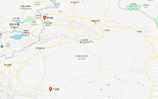 7月13日,新疆伊犁州霍城縣發生5.0級地震;新疆和田地區于田縣發生3.4級地震。(谷歌地圖)