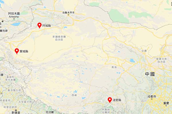 新疆西藏分別發生2宗地震 最高4.5級