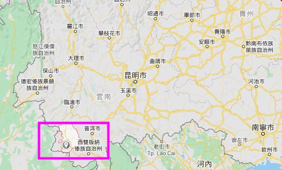 7月22日中午,雲南普洱市瀾滄縣(北緯22.39度,東經99.82度)發生4.1級地震。(谷歌地圖)
