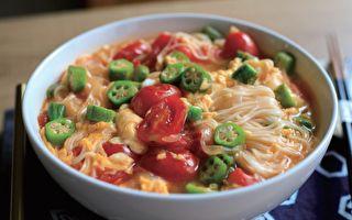 【蘿潔塔的廚房】番茄秋葵素麵~鮮甜嫩脆的滑順口感