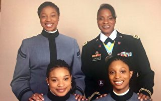 三姐妹跟隨母親腳步進入西點軍校