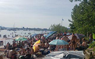 無口罩無間距 多倫多沙灘又是人滿為患