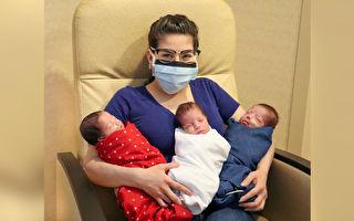 战胜中共病毒 德州母亲诞下健康三胞胎