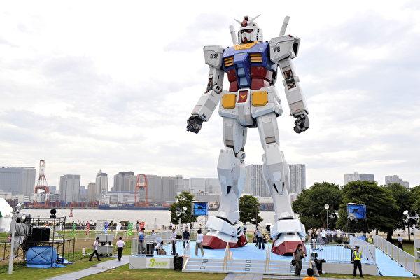 身高18公尺 日本鋼彈機器人跨出第一步