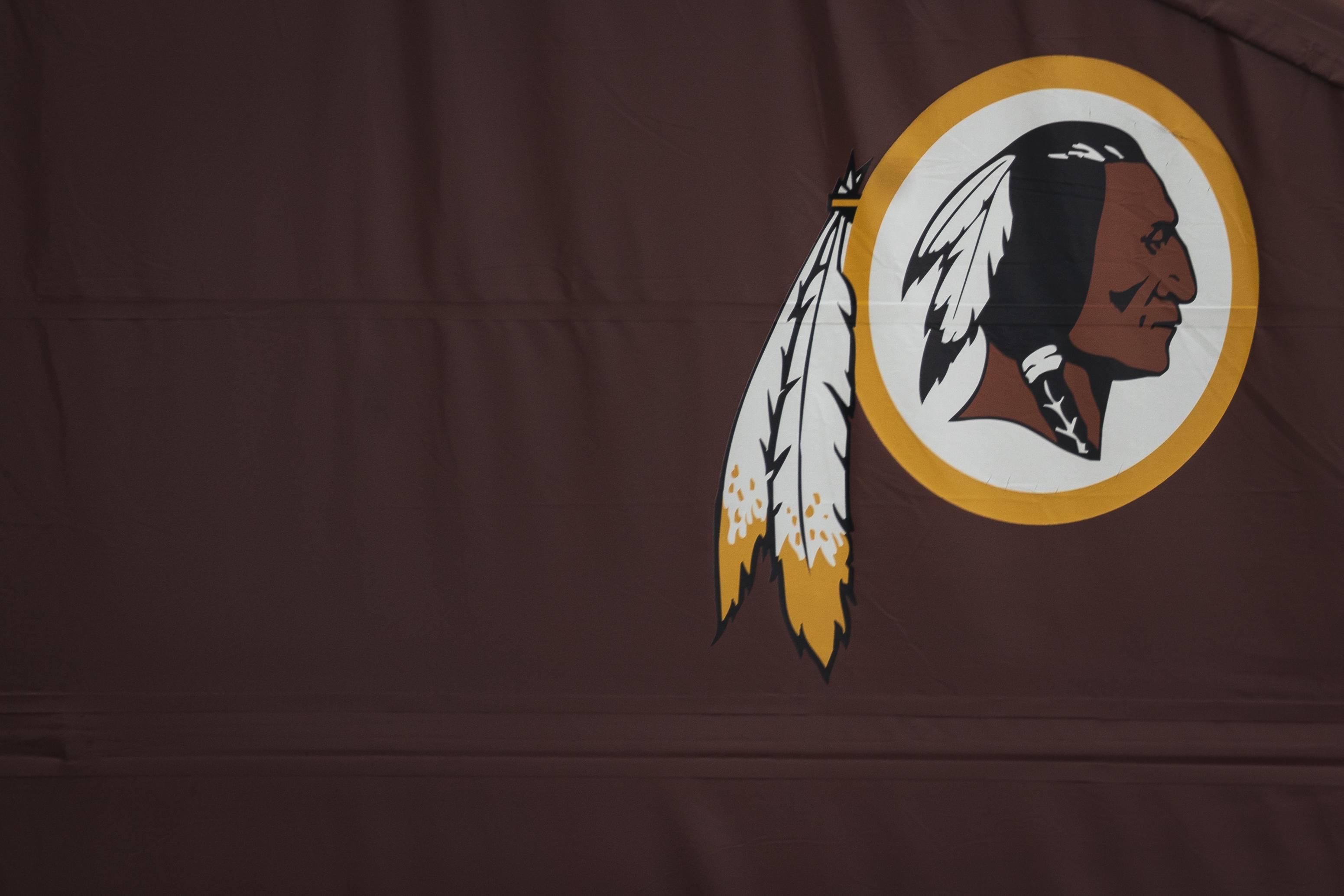 圖為華盛頓紅人隊(Redskins)徽標。(Drew Angerer/Getty Images)