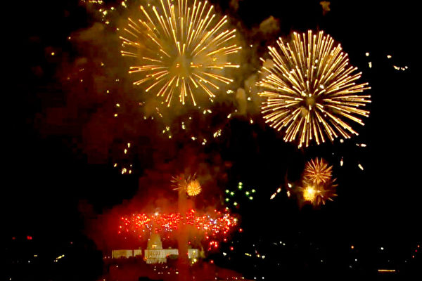 组图:庆独立日 美国举办盛大烟火表演