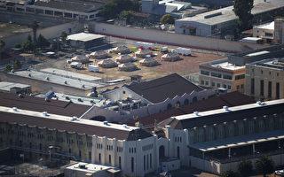 组图:美国加州圣昆汀监狱 40%囚犯染疫