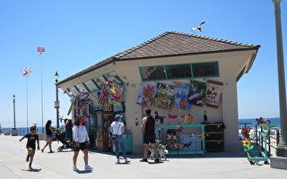 7月疫情下的美國加州海灘城市