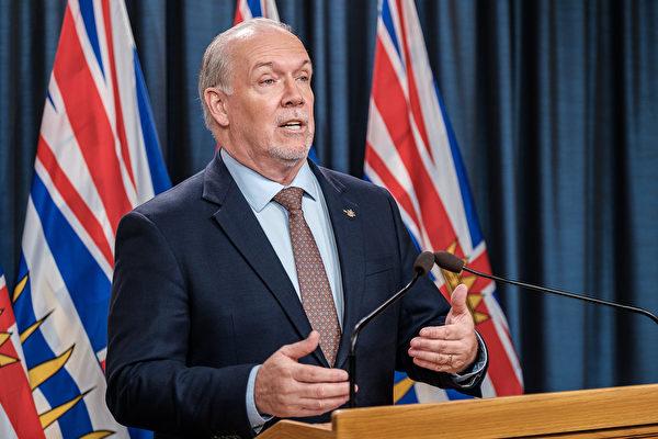 图:卑诗省长贺谨(John Horgan)7月9日表示,正在考虑如何在全省范围内重启经济。(省府图片)