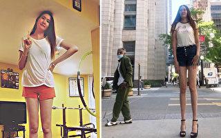 蒙古29岁女巨人爱穿高跟鞋 秀1.3米长腿