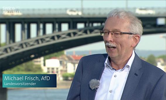 萊法州選項黨籍議員弗裏施在接受採訪。(影片截圖)