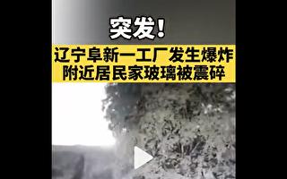 辽宁阜新化工园区发生爆炸 震感强如地震