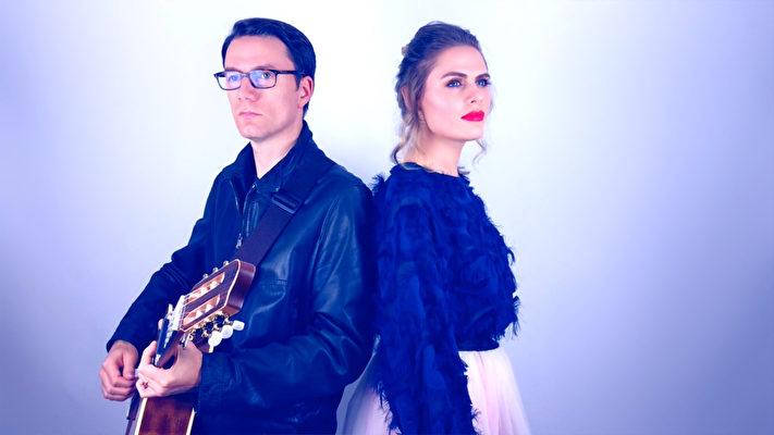 英國音樂人Patrick和Yulia(右)。(受訪者提供)