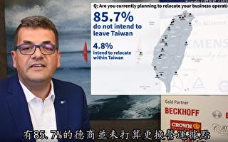 調查:85.7%在台德商不打算更換營運據點