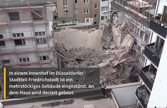 德国一多层居民楼坍塌 1死1失踪