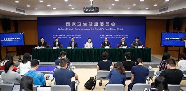2018年6月22日,中共衛健委在專題新聞發佈會上稱,肝移植「平均等待時間為27.5天,遠遠少於美國的120天」。(中共國務院官網截圖)