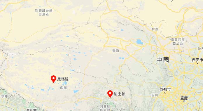 西藏地震不斷 一日連發5次 最高震級6.6