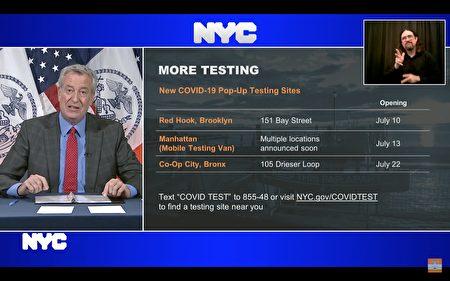 市長白思豪表示,為防止疫情擴散,市府將加大檢測力度,本週目標檢測量要達15萬例。
