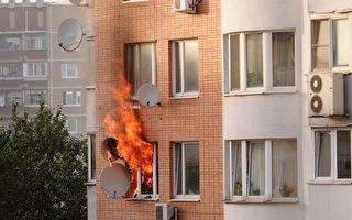 法国2童从燃烧4楼公寓跳下 路人成功救起