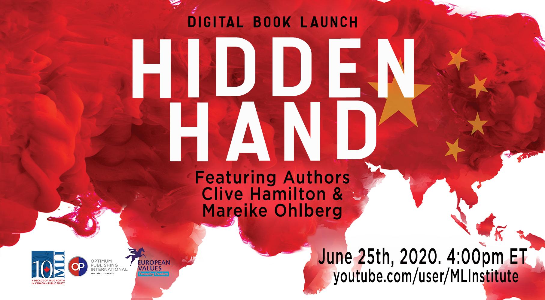 新書《隱藏的手》揭露中共如何威脅世界