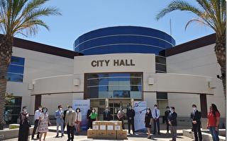 臺美商會展開百萬口罩贈大洛杉磯第六站活動