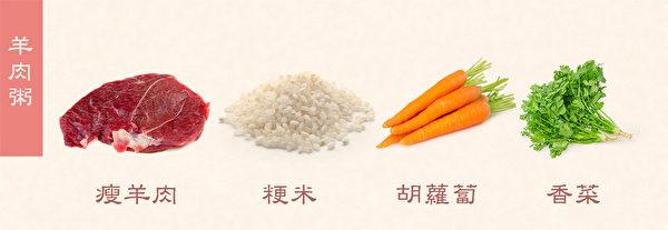 冬季養生粥之:羊肉粥。(健康1+1/大紀元)