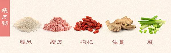 春季養生粥之:瘦肉粥。(健康1+1/大紀元)