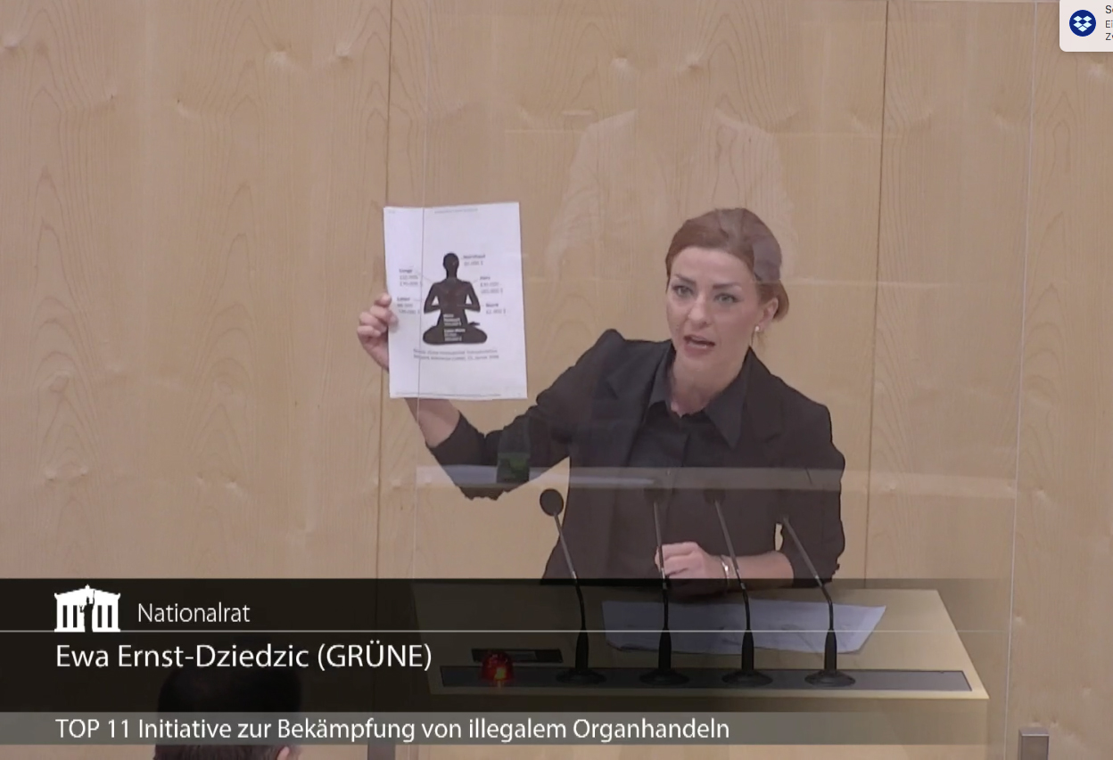 制止中共器官交易罪惡 奧地利國會通過提案