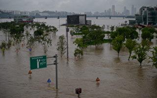 组图:韩国洪水山体滑坡致14人死 千余人疏散