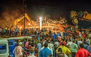印度孟買南部一棟五層樓房倒塌 逾百人被困