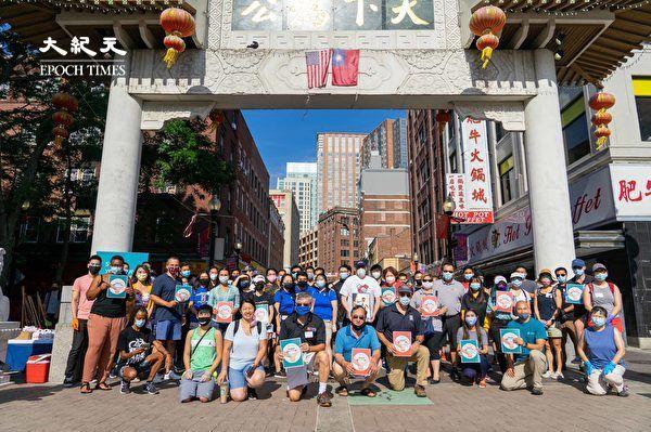 「愛華埠」志願者清潔社區街道